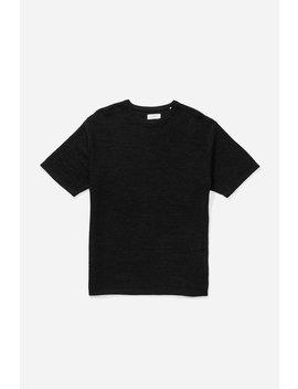 Pacho Paper Yarn Short Sleeve Sweater Black           Lim Studio Paper Cardigan   Black              Bandana T Shirt   Midnight              Wade Paper Yarn Sweater   Black              Brandon Stripe Short Sleeve Shirt   Black by Saturdays Nyc