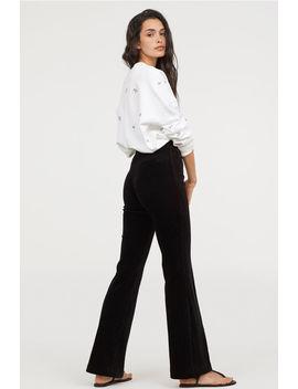 Pantaloni Evazați De Catifea by H&M