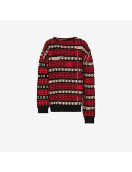 Stripe Knitted Wool Blend Jumper by Calvin Klein 205 W39 Nyc