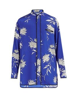 Floral Print Silk Shirt by Haider Ackermann