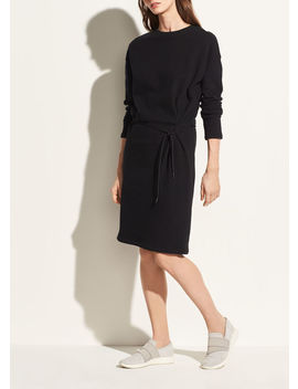Long Sleeve Cinched Waist Dress by Vince