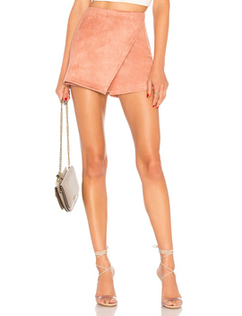 Addy Faux Suede Skort by About Us
