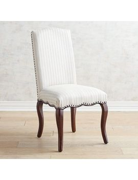 Teal Alverna Stripe Dining Chair With Espresso Wood by Claudine Collection