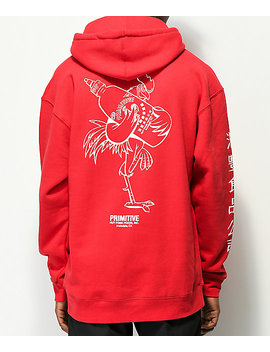 Primitive X Huy Fong Rooster Red Hoodie by Primitive