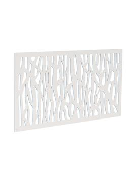 4 Ft. X 2 Ft. White Sprig Polymer Decorative Screen Panel by Tuff Bilt
