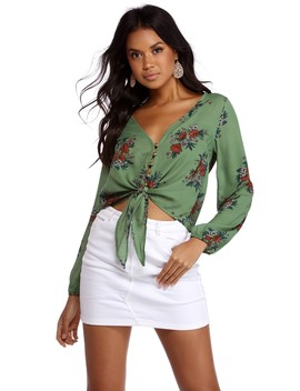 Button Up Floral Blouse by Windsor