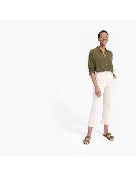 The Clean Silk Oversized Shirt by Everlane