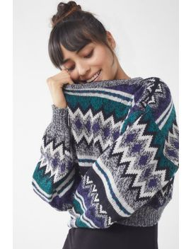 Urban Renewal Remade Patterned Cropped Sweater by Urban Renewal