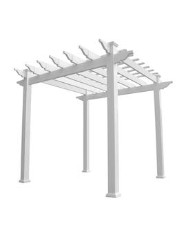 Royal 96 In. X 88 In. White Vinyl Pergola by Weatherables