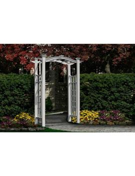 Florence 42 In. X 86 In. White Vinyl Arbor by New England Arbors