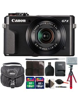 Canon G7 X Mark Ii Power Shot 20.1 Mp Black Digital Camera With 24 Gb Accessory Kit Black by Canon International