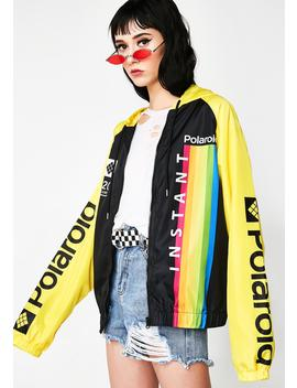 Picture Me Rollin' Polaroid Windbreaker by C Life Group Ltd