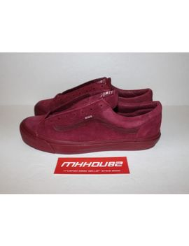 New Wtaps Vans Vault Og Style 36 Lx Burgundy Red Casual Shoes Era Size 12 by Vans