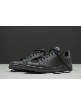 New Adidas Originals Stan Smith Men's Shoes M20327 Triple Black Leather Trainers by Adidas