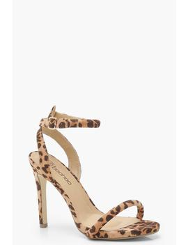 Leopard Two Part Heels by Boohoo
