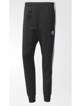 New Men's Adidas Originals Superstar Cuffed Track Pants ~ Size Xl  #Aj6960 Black by Adidas