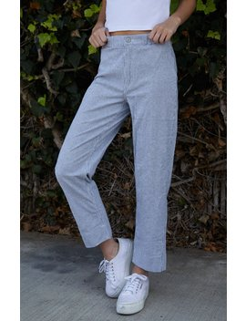 White & Grey Striped Tilden Pants by John Galt