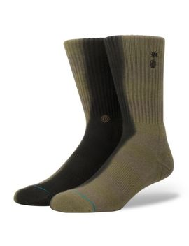 Stance Get Shacked Classic Crew Sock   Olive   M556 C18 Ges by Stance