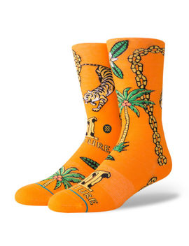 Stance Mens Migos Orange Crew Socks by Stance