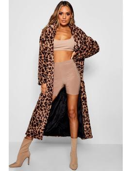 Leopard Faux Fur Coat by Boohoo