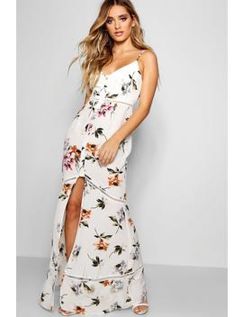 Floral Panelled Maxi Dress by Boohoo