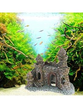 Clearance Sale!Deesee(Tm)🌸🌸Vintage Resin Castle Aquarium Ornament Home Fish Tank Landscape Decoration New by Deesee(Tm) Home