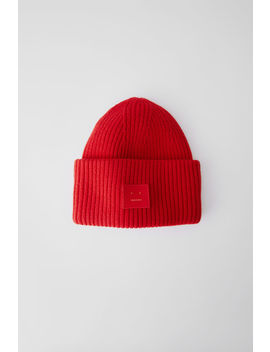 Bonnet Oversize Rouge Tomate by Acne Studios