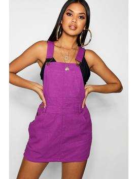 Purple Denim Pinafore Dress by Boohoo