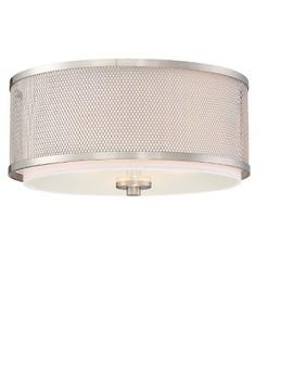 Brushed Nickel Flush Mount Ceiling Lights (3 Bulb Sockets)   Filament Design by Shop All Aurora Lighting