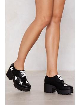 You're Gonna Go Star Lace Up Shoe by Nasty Gal