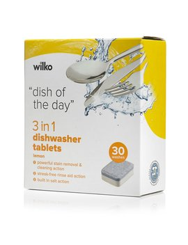Wilko Dishwasher Tablets 3in1 30pk by Wilko