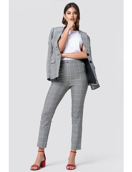 High Waist Checkered Suit Pant by Na Kd