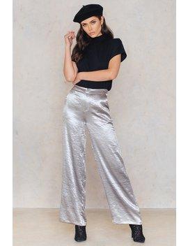 Metallic Flared Pants by Na Kd
