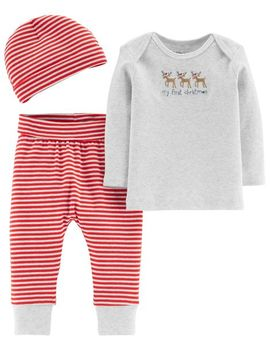 Certified Organic Cotton 3 Piece Christmas Set by Carter's