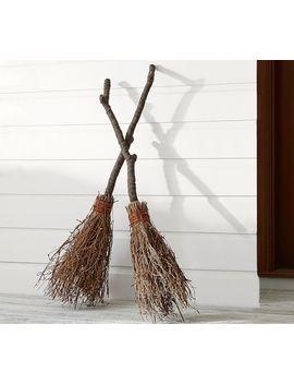 Lit Dancing Broom by Pottery Barn