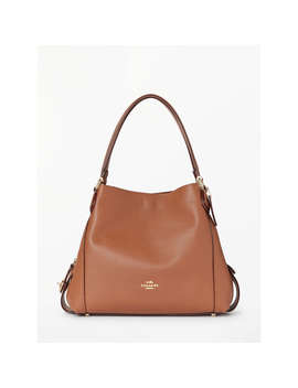 Coach Edie 31 Polished Pebble Leather Shoulder Bag, 1941 Saddle by Coach