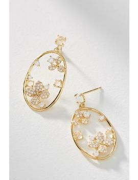 Blooming Hoop Drop Earrings by Anthropologie
