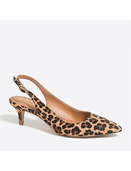 Esme Calf Hair Slingback Kitten Heels by J.Crew