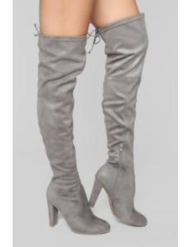 Go With The Flow Boot   Grey by Fashion Nova