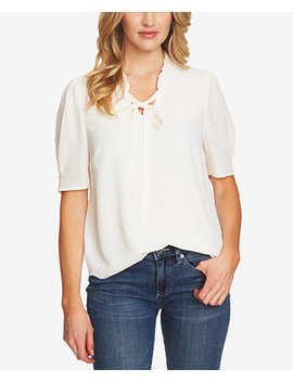 Ruffled Bow Neck Top by Ce Ce