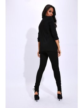 Black Ruched Sleeve Blazer by I Saw It First