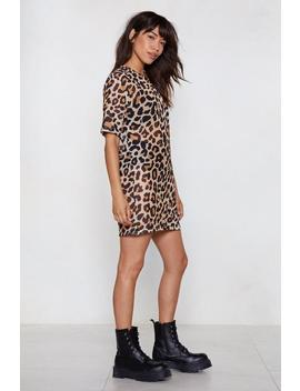 The Future Is Meow Leopard Tee Dress by Nasty Gal
