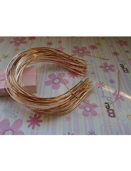 18pcs Gold Color Headband With Bent End Thin 3mm by Blueskysupplies