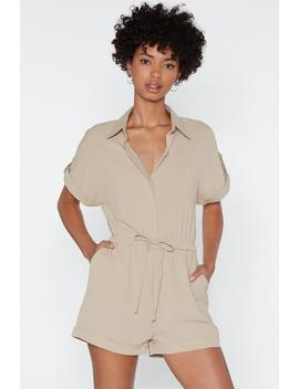 You Tied That Right Utility Romper by Nasty Gal