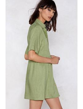 Look Button The Bright Side Shirt Dress by Nasty Gal