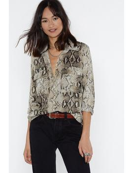 Snake 'em Down Shirt by Nasty Gal