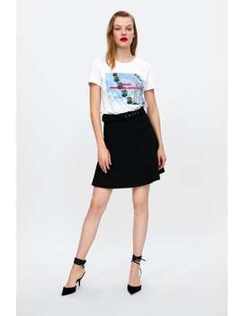 Printed Photograph T  Shirt Graphic & Prints T Shirts Woman by Zara
