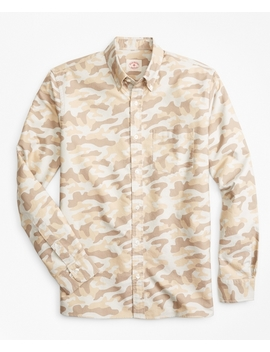 Camo Print Supima® Cotton Oxford Sport Shirt by Brooks Brothers