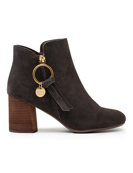 Louise Block Heeled Boots by See By Chloé