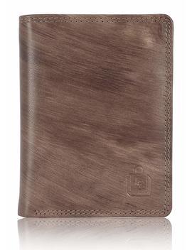 Le Craf Men's Brown Genuine Leather Rfid Blocking Wallet by Le Craf